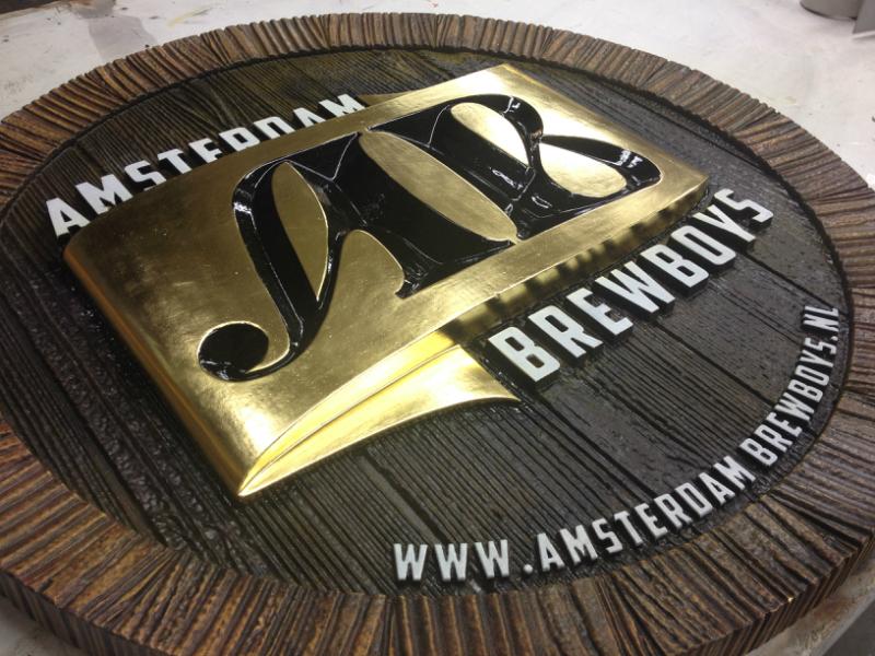3D reclamebord voor Amsterdam Brewboys