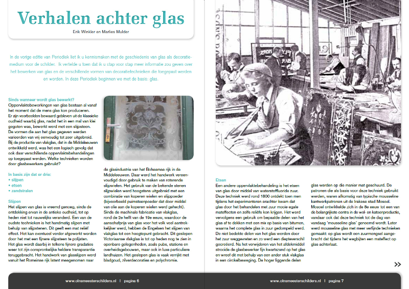 Artikel door Schitterend in Schildersblad Deel 2