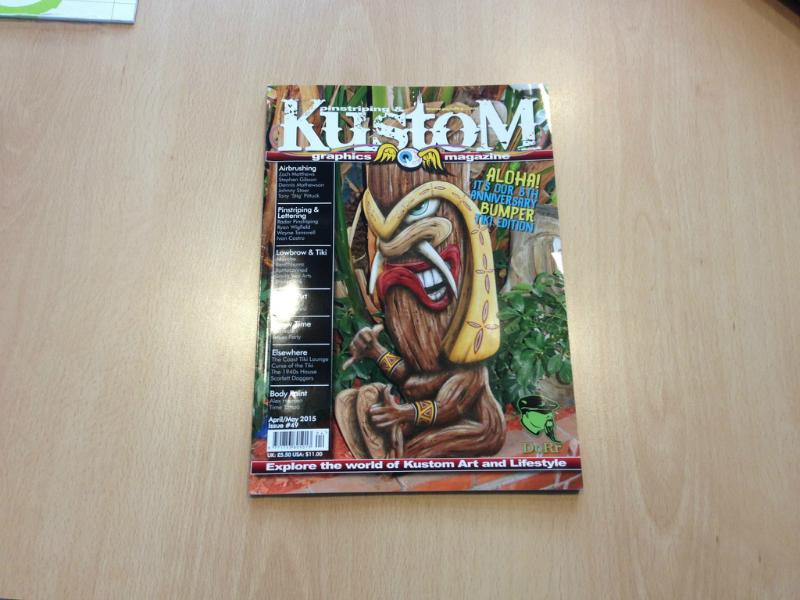 Erik Winkler in het Kustom Magazine