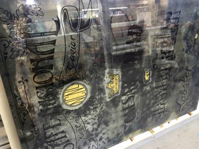 Antieke spiegels produceren voor restaurant Nacional Amsterdam