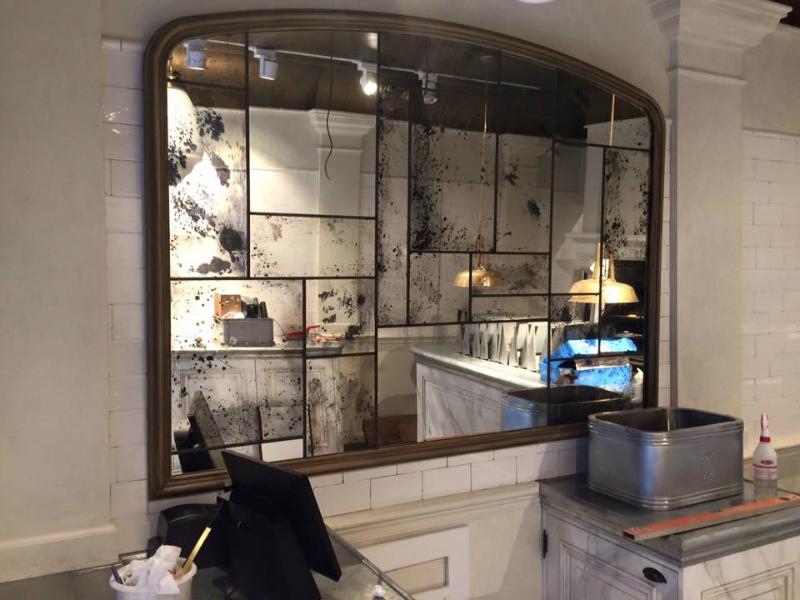Antiek verweerde spiegel maken voor het Fritesatelier van Sergio Herman   Nieuws   Schitterend eu