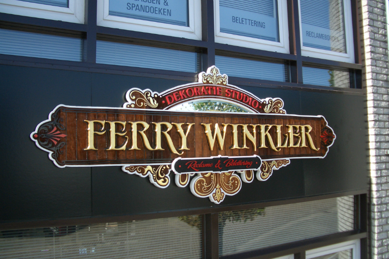 3D sign for Ferry Winkler