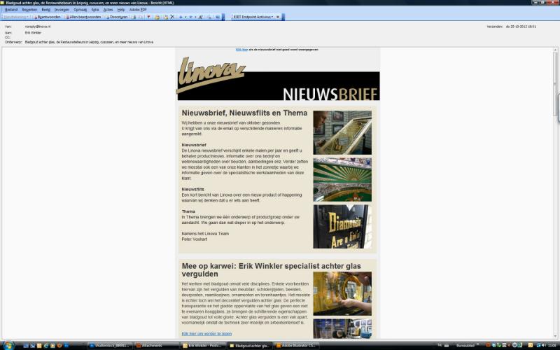 Nederlands grootste bladgoud leverancier Linova schrijft over Schitterend