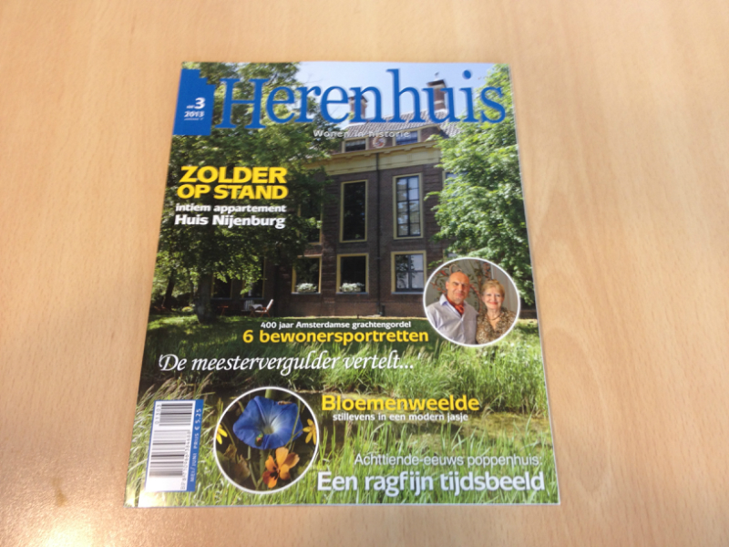 Article about Schitterend in Herenhuis (Mansion) Magazine