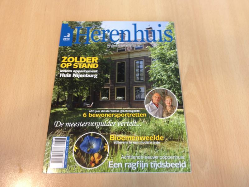 Artikel over Schitterend in Herenhuis Magazine