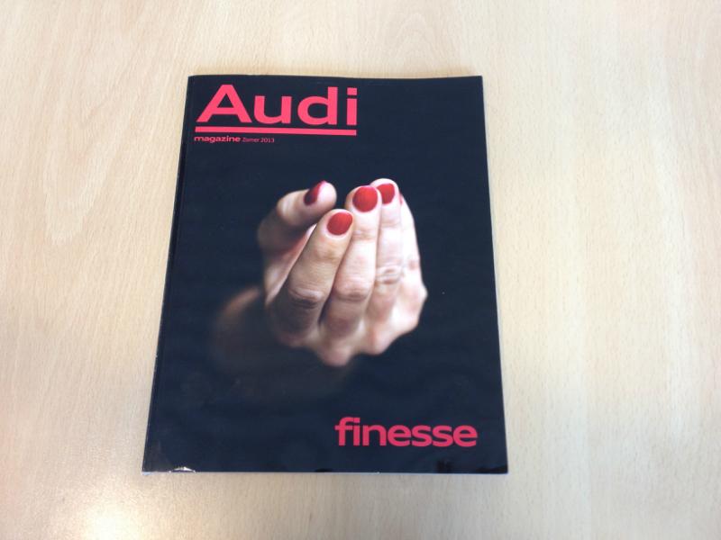 Portret in het Audi Magazine zomer 2013
