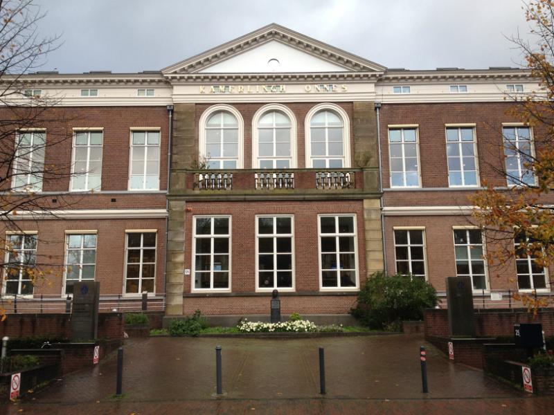 Verguld raam voor de Universiteit van Leiden