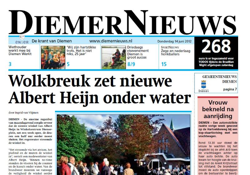 Schitterend in Diemer News