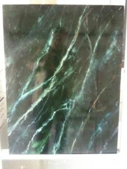 'vert de mer' marmerimitatie op mdf-paneel geschilderd